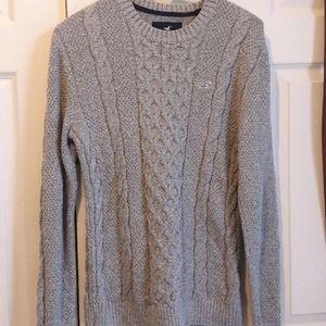 Hollister cotton grey sweater